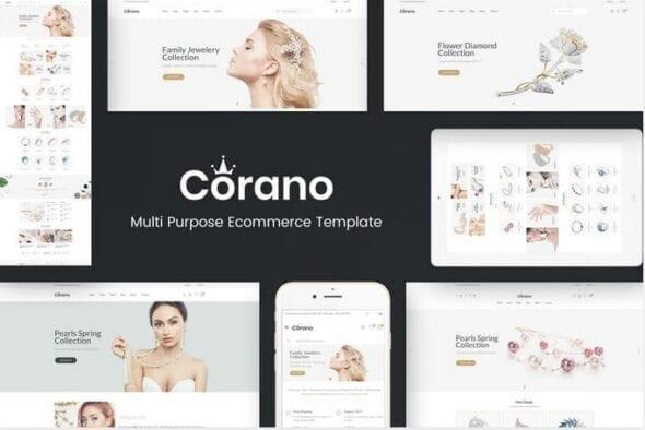 قالب فروشگاه جواهر و زینت آلات Corano - Jewellery OpenCart Theme
