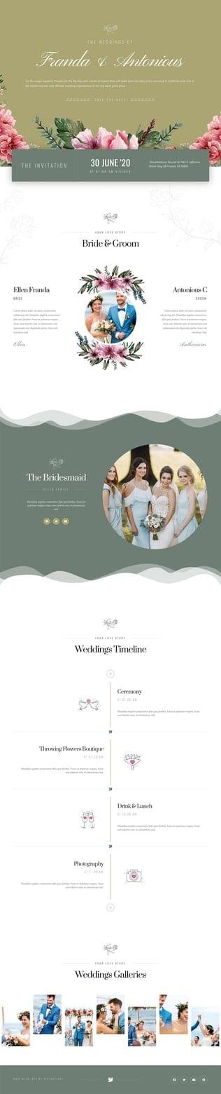 قالب آماده تمپلیت کیت Couples - Wedding Planner Template Kit