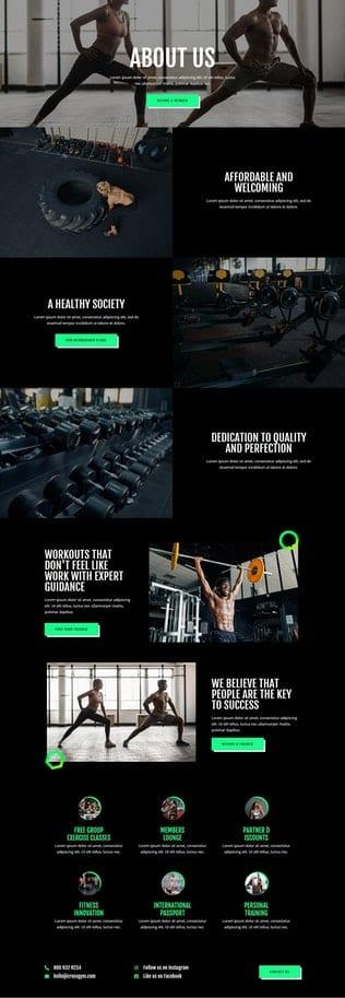 قالب آماده تمپلیت کیت CrossGym - Gym & Fitness Elementor Template Kit