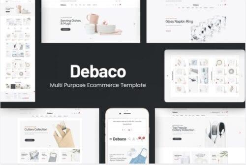 قالب فروشگاه لوازم خانه و آشپزخانه Debaco - OpenCart Theme