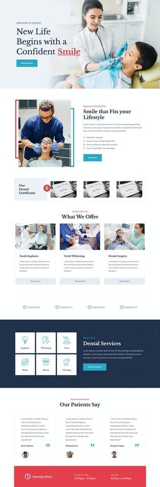 قالب آماده تمپلیت کیت Denton - Dentist Template Kit