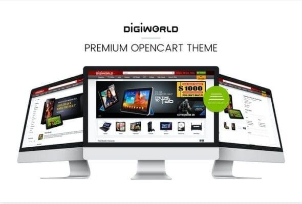 قالب فروشگاه لوازم دیجیتال Digital World OpenCart Theme Premium & Responsive