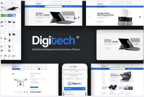 قالب فروشگاه لوازم الکترونیکی و دیجیتال Digitech - Responsive Opencart 3.x Theme