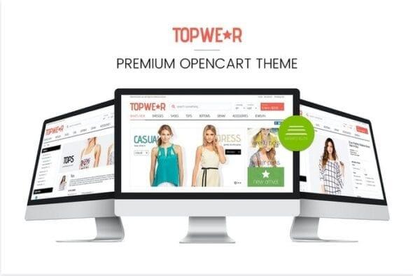 قالب فروشگاه مد و فشن Fashion Responsive OpenCart 1.5 Theme - TOPWEAR