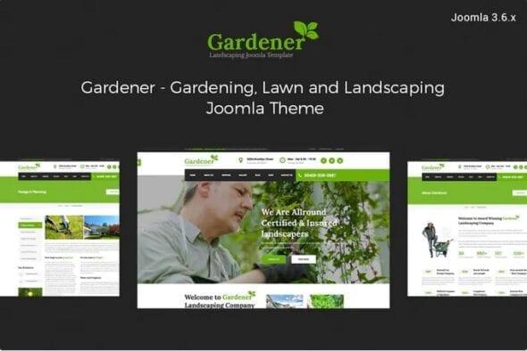 قالب تجاری جوملا Gardener-Gardening and Landscaping joomla template