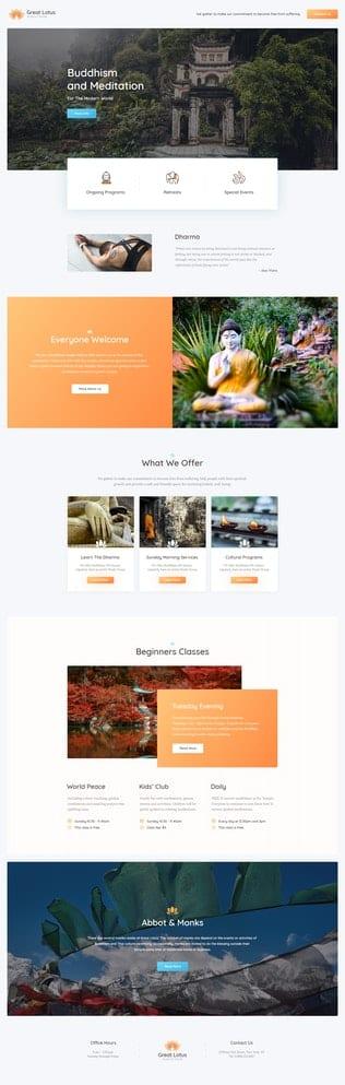 قالب آماده تمپلیت کیت Great Lotus - Buddhist Temple Template Kit