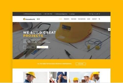 قالب تجاری جوملا Housebuild - Joomla Construction Business Theme