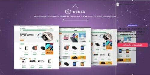 قالب تجاری و فروشگاهی جوملا Kenzo - Responsive VirtueMart Joomla Template