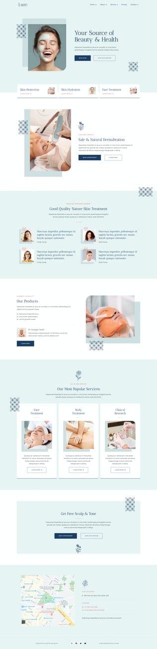 قالب آماده تمپلیت کیت Lure - Modern Dermatology Template Kit