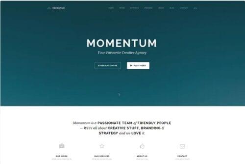 قالب تک صفحه ای ریسپانسیو جوملا Momentum - Simple Creative OnePage Joomla Template