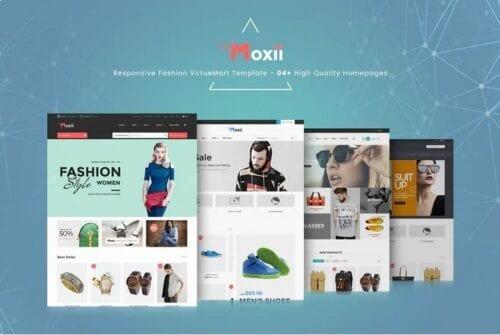 قالب فروشگاهی جوملا Moxii - Responsive Fashion VirtueMart Template