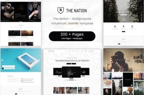 قالب چندمنظوره جوملا Nation - Multipurpose Virtuemart Joomla Template