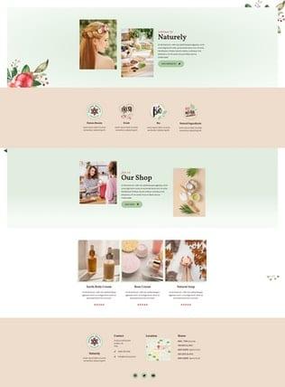 قالب آماده تمپلیت کیت Naturely - Natural Cosmetics & Beauty Template Kit