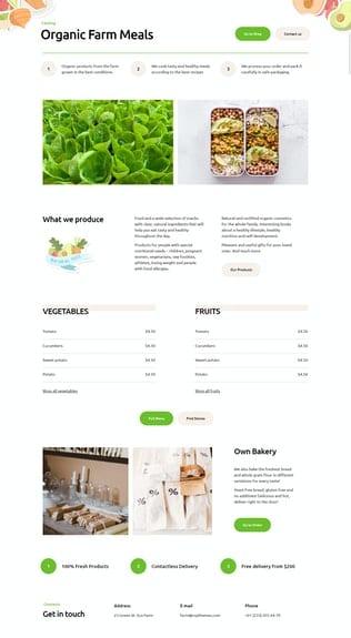 قالب آماده تمپلیت کیت ORFA - Organic Farm Products Elementor Template Kit