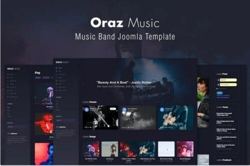 قالب موسیقی جوملا Oraz - Music Band Joomla Template