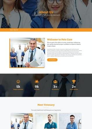 قالب آماده تمپلیت کیت Petto - Vetenary Pet Clinic Template Kit