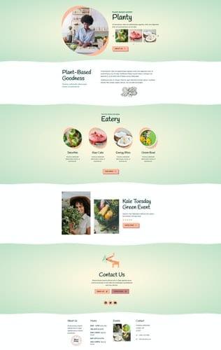 قالب آماده تمپلیت کیت Planty - Cafe & Restaurant Template Kit