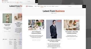 قالب آماده تمپلیت کیت Publibox - Blog, News & Magazine Elementor Template Kit