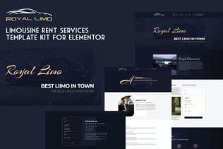 قالب آماده تمپلیت کیت Royal Limo - Limousine Rent Services Template Kit