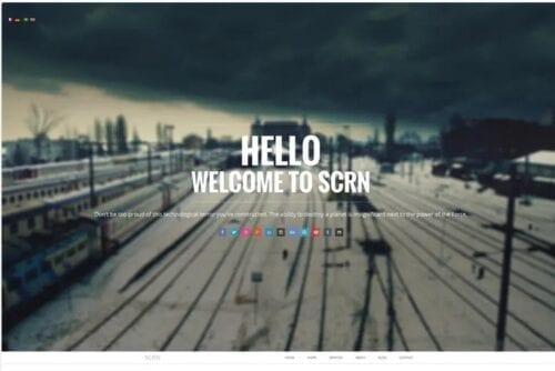 قالب تجاری جوملا SCRN - Responsive Parallax Joomla Template