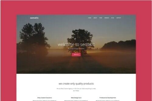 قالب تک صفحه ای هنری جوملا Sematic - One Page Joomla Template