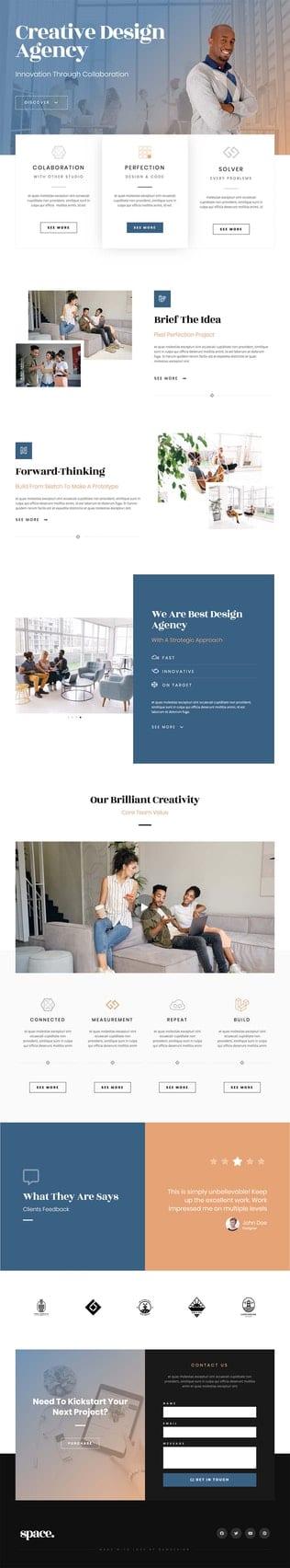 قالب آماده تمپلیت کیت Space - Creative Agency Template Kit