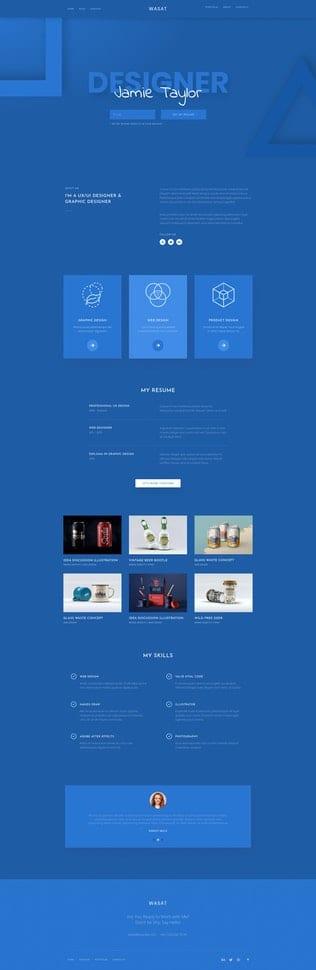 قالب آماده تمپلیت کیت Wasat — Creative Portfolio Elementor Template Kit