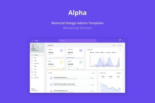 Alpha - Material Design Admin Template