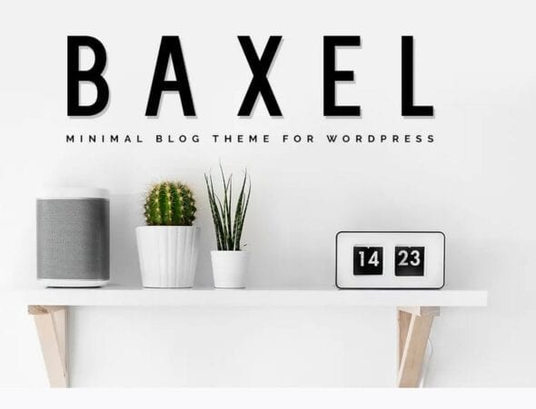 Baxel - Minimalist WordPress Blog Theme