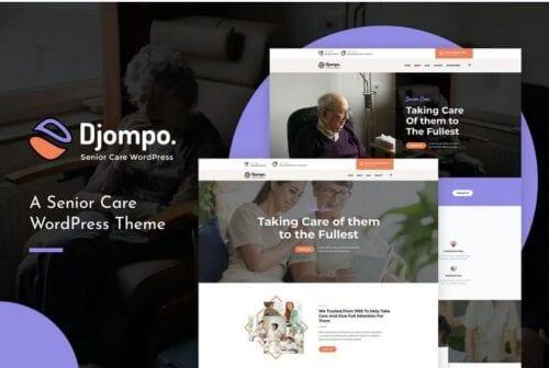 Djompo   Senior Care WordPress Theme