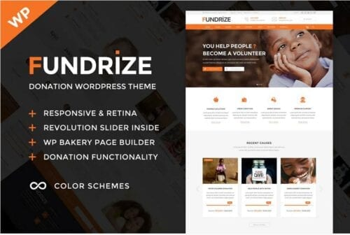 Fundrize - Donation & Charity WordPress Theme