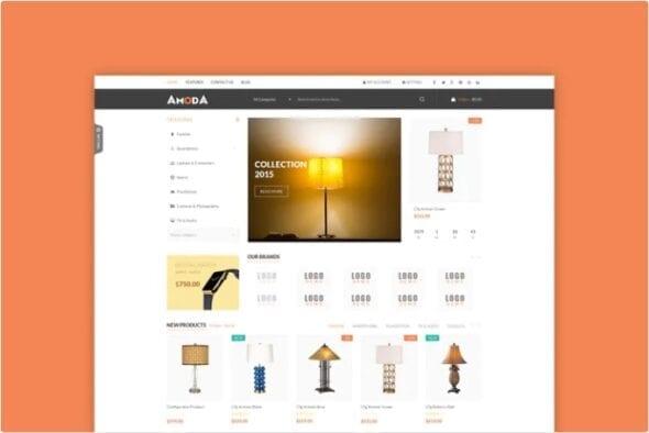 قالب فروشگاه مبلمان و دکوراسیون داخلی Amoda - Responsive Magento Theme