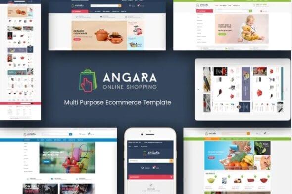 قالب فروشگاه لوازم ورزشی Angara - Responsive Magento Theme