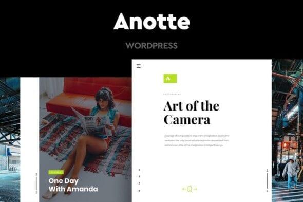 قالب وردپرس عکاسی Anotte - Horizontal Photography WordPress Theme