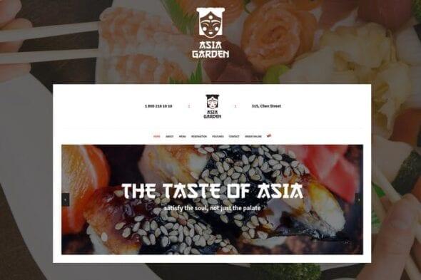 قالب وردپرس رستوران Asia Garden