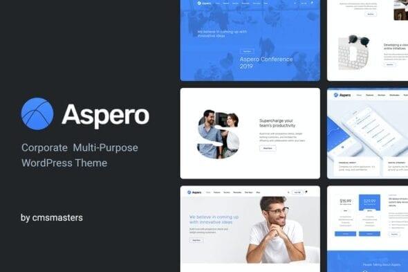 قالب وردپرس تجاری Aspero - Business WordPress Theme
