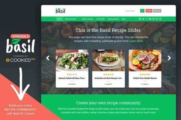 قالب وردپرس رسپی Basil - Recipes WordPress Theme