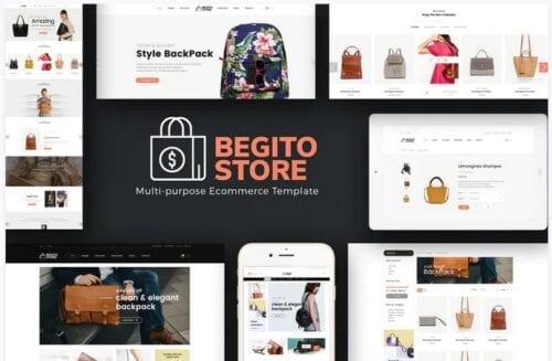 قالب فروشگاه کیف Begito - Bag Store Responsive Opencart 3.x Theme