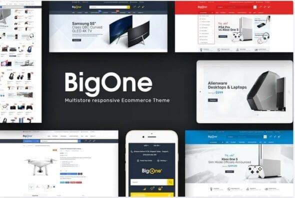 قالب فروشگاه لوازم الکترونیک و دیجیتال Bigone - Responsive Magento Theme