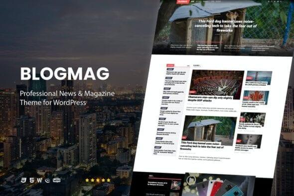 قالب وردپرس مجله حرفه ای BlogMag - Professional Magazine Theme for WordPress