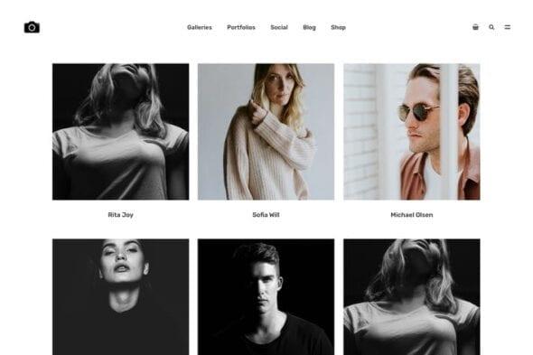 پوسته وردپرس نمونه کار عکاسی Bokeh - Photography Portfolio Theme