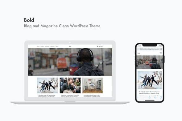 قالب وردپرس بلاگ و مجله Bold - Blog and Magazine Clean WordPress Theme