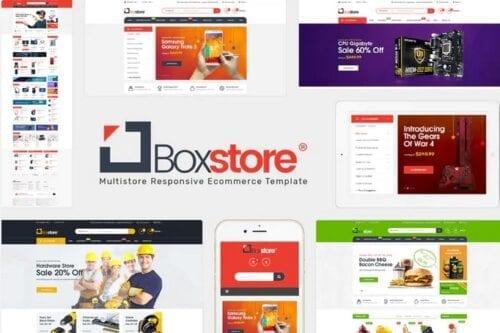 قالب فروشگاه لوازم الکترونیک و دیجیتال BoxStore - Multipurpose Magento Theme