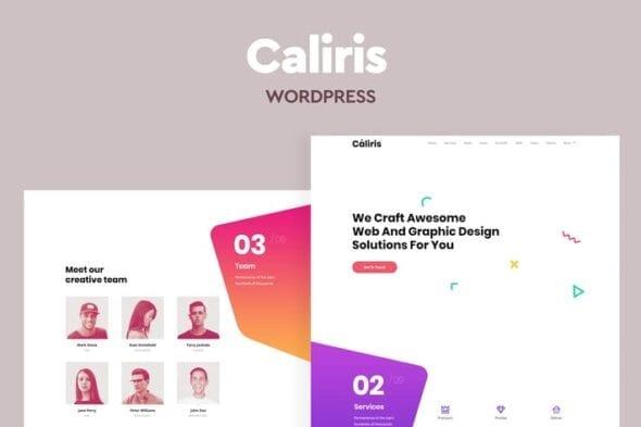 قالب وردپرس تک صفحه ای Caliris - Responsive One Page WordPress Theme