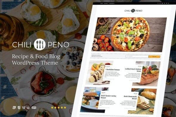 قالب وردپرس آشپزی Chilipeno - Recipe & Food WordPress Theme