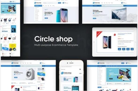 قالب فروشگاه لوازم دیجیتال و الکترونیک CircleShop - Responsive Magento Theme
