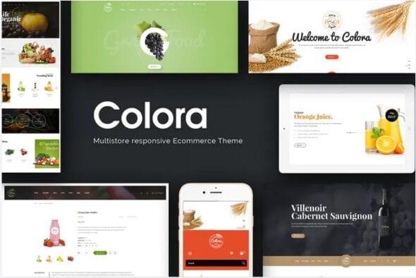 قالب فروشگاه محصولات غذایی ارگانیک Colora - Organic Responsive Magento Theme