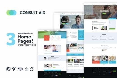 پوسته وردپرس مشاوره تجاری و مالی Consult Aid Business Consulting & Finance WP Theme