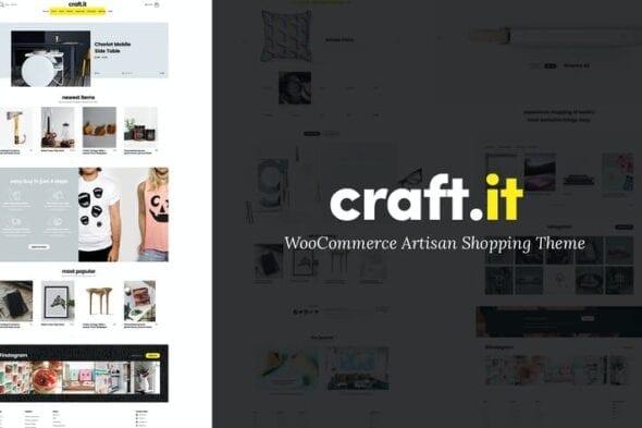 قالب وردپرس فروشگاهی Craftit Artisan Shopping Theme