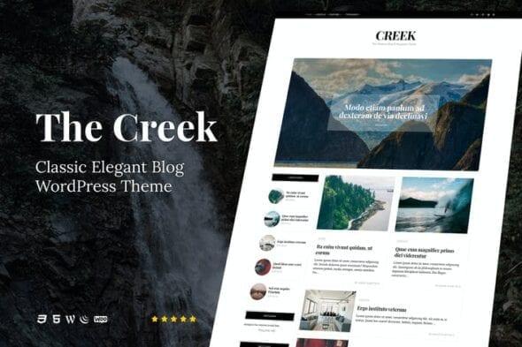 قالب وردپرس بلاگ Creek - Classic Elegant Blog WordPress Theme